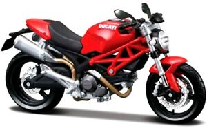 Maisto Ducati Monster 696 Motorcycle, Red 1:12 Scale Diecast Model