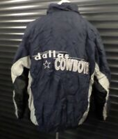 Dallas Cowboys Vintage 90s Jacket Coat Navy Blue Logo 7 Men's Size L READ DESC