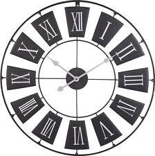 grand rond métal noir squelette chiffre romain MODERNE CHAMBRE