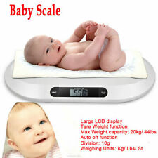20kg / 44pounds Capacity Digital Baby Newborns Weighing Scale Lcd Display Abs Us