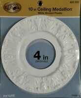 Hampton Bay 10in Ceiling Medallion White Molded Plastic Paintable NEW