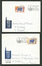 Timbres avec 2 timbres avec 1 timbre