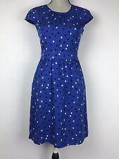 NWT J.Crew Women's Silk Cap Sleeve Abstract Dot Dress Size 0 #06238