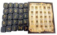 Black Jasper Rune Sets Elder Futhrak Set comes with black Pouch and rune card