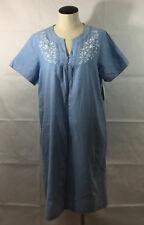 P10 Womens Miss Elaine Relax Sleep Shirt Dress! Sz Small Embroidered Pajamas
