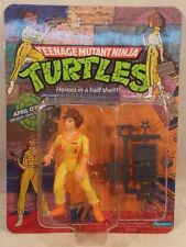 "Teenage Mutant Ninja Turtles TMNT 1988 April O'Neil ""Press"" On Shirt 10 Back MOC"