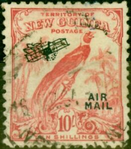 New Guinea 1932 10s Pink SG202 Very Fine Used