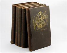 Antique 1887 VICTOR HUGO'S Novels Illustrated, P.F. Collier New York, Vol. I-V