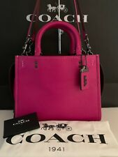 COACH ROGUE 25 in FUSCHIA! Beautiful Hot Pink! 54536