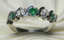 Anelli di lusso verde tondi topazio