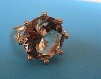 Wunderschöner Ring 585 14 Karat Gelbgold mit einem Citrin Naturfarben 6,80 Gramm