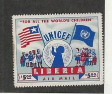 Liberia, Postage Stamp, #C77 Mint Hinged, Stain Glazed Gum, 1954 Flag