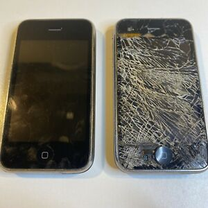 (2) Apple iPhone 3GS Lot Of 2 - Black A1303 Parts or Repair Untested 32g 16g