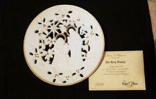 Lenox pierced porcelain Holy Family plate 1993 22K gold trim Christmas