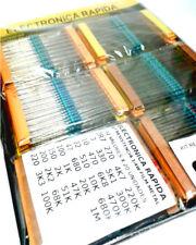 X640pcs 0,25w 1//4w metal film resistors 32 values x 20 pcs lots numbered
