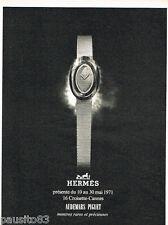 PUBLICITE ADVERTISING 085  1971  HERMES  montre CROISETTE-CANNES AUDEMARS PIGUET