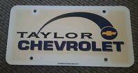 TAYLOR Chevrolet chevy trucks Dealer License plate MICHIGAN DEALERSHIP PROMO old