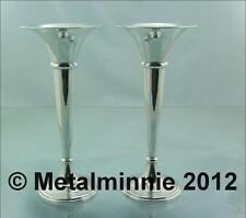 Birmingham Antique Solid Silver Vases/Urns