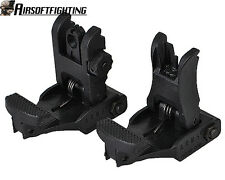 Hunting Rapid Transition Front and Rear Flip Up Folding Backup ABS Sight Set BK