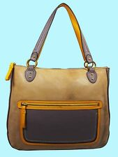 COACH 22430 Poppy HALIE Cappuccino/Oyster Glam Shoulder Tote Bag Msrp $348