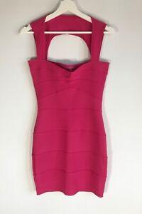 Boohoo Hot Pink Bodycon Midi Party Dress Size UK 8 Unworn