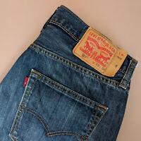 Vintage Levi 501 Jeans Blue Straight Button Fly Unisex (PatchW33L34) W 32 L 32