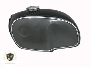 BMW R100 Rt Rs R90 R80 R75 Black & Silver Painted Steel Petrol Tank (Fits For)