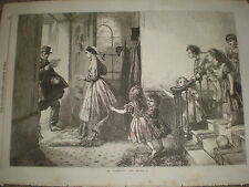 St Día De San Valentín 1868 impresión Antiguo ref Z1