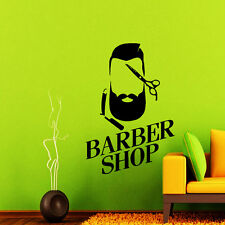 Barber Shop Wall Decal Hair  Salon Vinyl Sticker Hipster Art Scissor Decor NA334