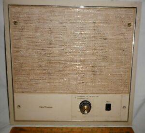 "Vintage MCM NuTone Intercom 2 Channel 7"" Speaker Model 2081-B ""As-Is"""