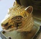 Belle Imposante Bague Chevalière Tête de Tigre en Acier Inoxydable T64/65