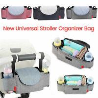 Storage Bag Baby Organiser Mummy Bottle Cup Holder Buggy Stroller Pram Pushchair