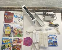 Nintendo Wii Console Gamecube Compatible Lot 8 Games Wii Sports Resort Motion+