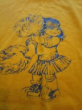 VTG Woman's CHEERLEADER Russell Athletic L yellow Crewneck Long-sleeve