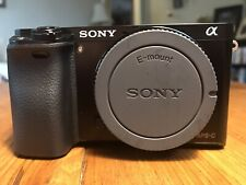 Sony Alpha a6000 Mirrorless Digital Camera W/Accessories & Lens