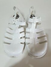 Brilliant white size 5 flat sandals from JuJu good condition