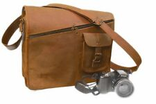 Rustic Leather Messenger Bag Shoulder Business Briefcase Laptop Bags Handmade