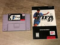 Fifa Soccer 97 w/Manual Super Nintendo Snes Cleaned & Tested Authentic
