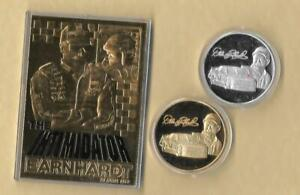 2000 Dale Earnhardt 23 Kt Gold Card # 3 THE INTIMIDATOR NASCAR & Coin Lot Silver