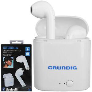 Grundig In-Ear Kopfhörer Bluetooth Headset Ohrhörer Stöpsel Kabellos Ladebox MP3