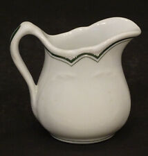 Vintage CARR CHINA Green Band DINER Hotel Restaurant CREAMER Syrup CREAM PITCHER
