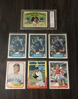 Carlton Fisk Card Collection With High Graded Rookie Card