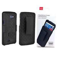 Verizon Shell Holster Combo Kickstand Belt Clip Cover Case For LG Lancet - Black