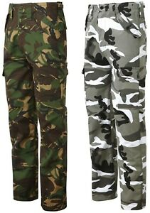 Mens Combat Trousers Cargo Trousers Camouflage Trousers Army Camo Trousers New