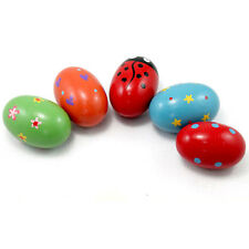 Wooden Egg Maracas Toy Music Shaker Percussion Rhythm Instrument For Baby Kids