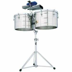 """Latin Percussion LP258S Tito Puente Series """"Thunder Timbs"""" Timbales"""