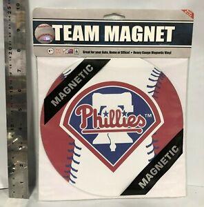 "PHILADELPHIA PHILLIES MLB LICENSED 8"" BASEBALL LOGO MAGNET FREE SHIP *CLOSEOUT*"