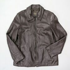 Women's Brown Leather Jacket New York by Winlit SIZE M
