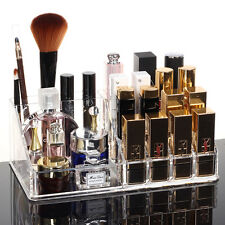 Makeup Case Clear Acrylic 24 Lipstick Holder Display Stand Cosmetic Organizer