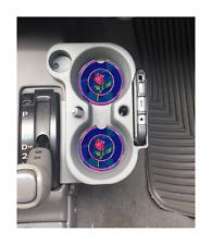 BEAUTY AND THE BEAST CURSED ROSE CUSTOM  SANDSTONE CAR COASTERS ABSORBS SET (2)